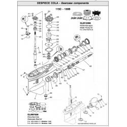 R.O. 6E5-W0001-F1 ( 115C) 6E5-W0001-C1 (130C) - Gearcase seal kit