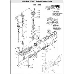 R.O. 6G5-W0001-C1 - Gearcase seal kit
