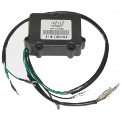CDI Power Pack Switch box Mercury Mariner Force 6-35 HP outboard motor. Original: 339-7452A1, 7452A3, 7452A2, 339-339-339
