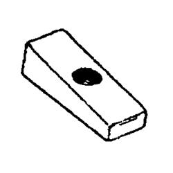 Queue de côté anode d'aluminium. Numéro de commande: CM826134A. L.r.: 826134