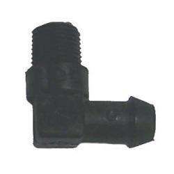Connector koeling voor slang 10mm. Bestelnummer: GLM10562. Mercury R.O.: 22-99664-1 (3/8″). OMC R.O.: 331894