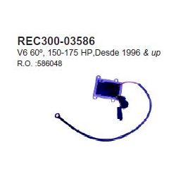 OMC gelijkrichter 150-175 pk 60° V6 '96+. Bestelnummer: REC300-03586. R.O.: 586048