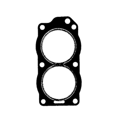 Head gasket Johnson Evinrude OMC & 9.9/15 HP (255cc) construction year 1993 up to and including 1999. (Product Code: 338222)