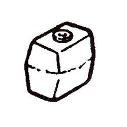 Anode (Aluminium) Johnson & Evinrude (OMC). Bestelnummer: GLM12776. R.O.: 436745