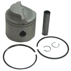 OMC zuiger V6: 175 pk 86-91, 235 pk 80-85. Wordt geleverd inclusief zuigerveren en pin. Maat: 3.625″ standaard zuiger . Be