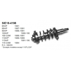 396255, 0396255 - Krukas (85 t/m 115 pk) Johnson Evinrude buitenboordmotor
