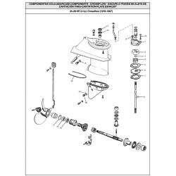 johnson, evinrude, staartstuk, onderdelen, crossflow ,25, 28, crossflow ,1978, 1997, water, pump ,service, kit, 395270
