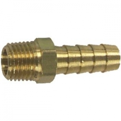 Johnson/evinrude male connector draad 3mm, voor slang 10mm. Bestelnummer: 18-8073. OMC R.O.: 173312 (3/8″)