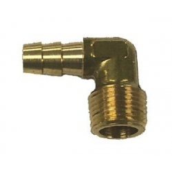 Johnson/evinrude male connector elleboog 90 graden, draad 10mm, slang 10mm. Bestelnummer: 18-8072. R.O.: 174177