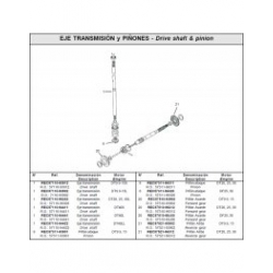 Nr.1 Drive shaft DT9.9-15S. Origineel: 57110-93912