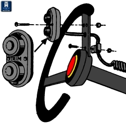 Steering trim control. Trim Switches on the Steering Wheel Improve Safety and Performance. This Steering trim control unit is m