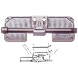 Beschermings plaat spiegel t.b.v. montage buitenboordmotor. Aluminium dwarsbalkplaat compleet met ondersteuning en buis voor bes
