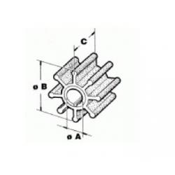 47-89983, 47-89983 - Impeller (30-65 pk) Mercury Mariner (2-takt) buitenboordmotor