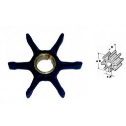 Nr.3 - 396725 Impeller (1979-2006) Johnson Evinrude buitenboordmotor