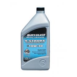 10W30 - 4-takt & Diesel Quicksilver Motorolie (1L fles)