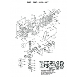 Nr.39 Gasket, cover. Origineel: 663-12414-A0