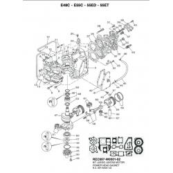 Yamaha, Zuiger 688-11635-03, E48C, E55C, 55ED, 55ET, buitenboordmotor