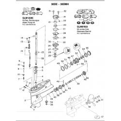 Joints d'étanchéité R.o. 6J8-W0078-A2-Carter
