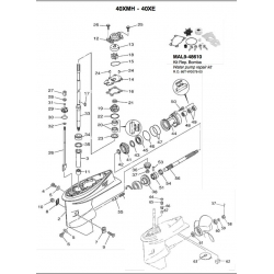 R.O. 66T-W0078-00 - Water pump repair kit