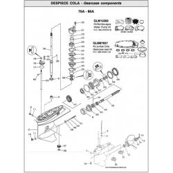 Nr.62 Gearcase seal kit. Origineel: 688-W0001-22