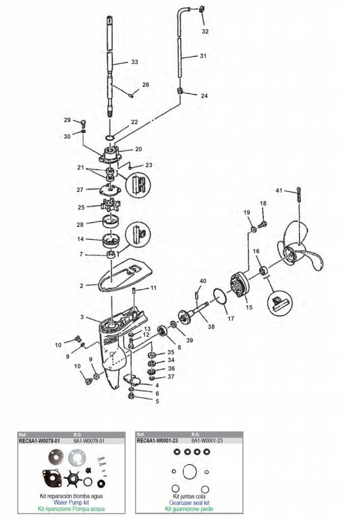 Verbazingwekkend Yamaha 2 staartstuk onderdelen buitenboordmotor kopen? - Power PB-57