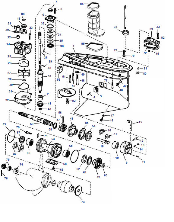 Tailpiece Parts Evinrude V4 V6 1979 2006 Buy