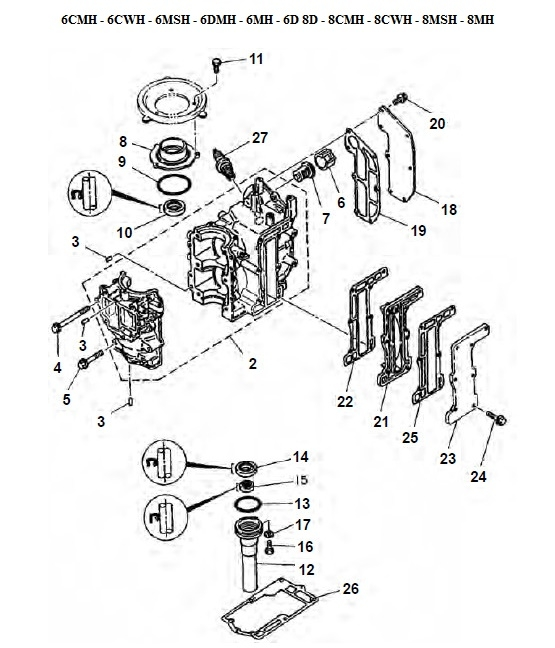 6 8 Hp Engine Block Parts There Are12 Products: Yamaha Outboard Engine Diagram At Hrqsolutions.co