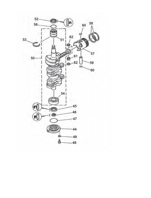 Yamaha 70 HP Crankshaft Parts outboard motor 50 g 60 & buy
